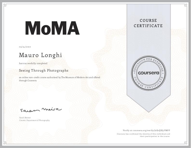 Corso di fotografia MoMa di New York